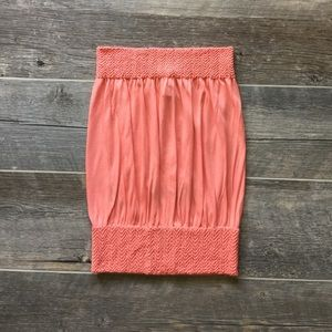Tops - Coral Tube Top with Banded Drop Waist NWT One Size