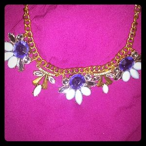 Blue Tones Statement Necklace