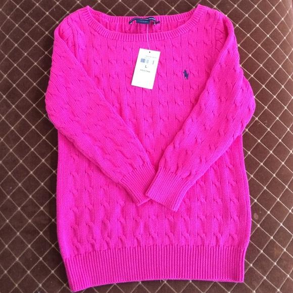 Ralph Lauren Sweaters Girls Pink Polo Sport Sweater Poshmark