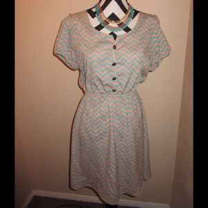 Rue21 Dresses & Skirts - Chevron print dress SOLD