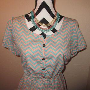 Rue21 Dresses - Chevron print dress SOLD