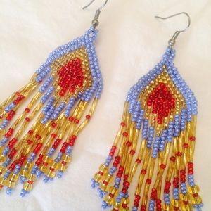 Jewelry - Beaded Tribal Earrings