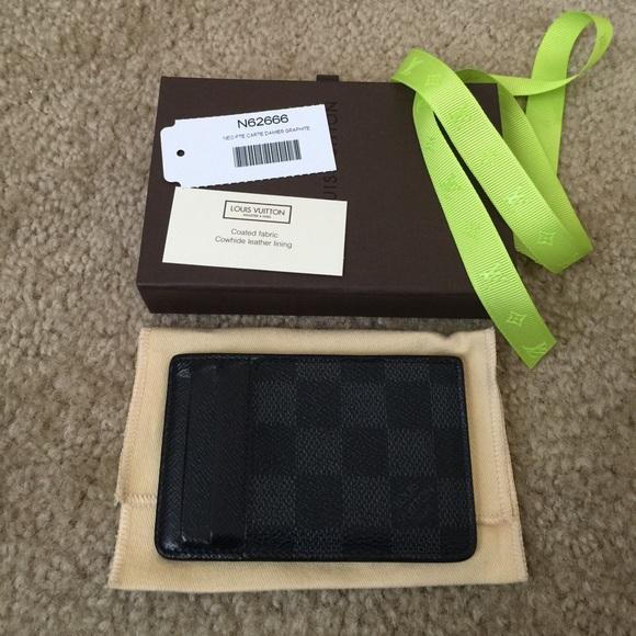 aeb0eb702f1b Louis Vuitton Clutches   Wallets - Louis Vuitton Damier Graphite Neo Portes  Card Case