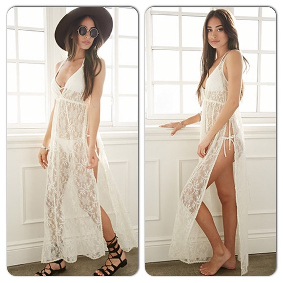 Boho white maxi dresses