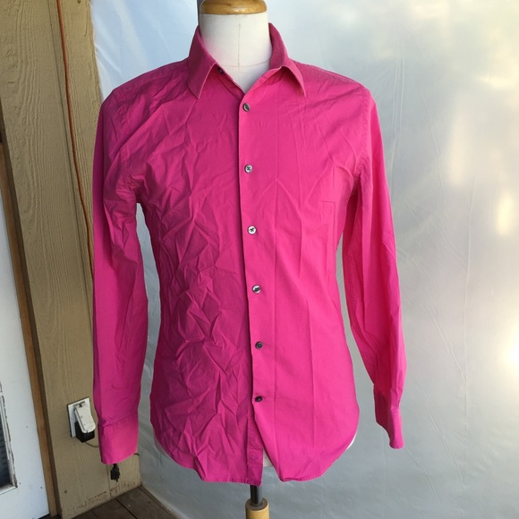 Bright Pink Shirt Mens Shirts Rock