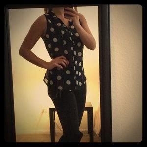 *cute polka dot blouse size small