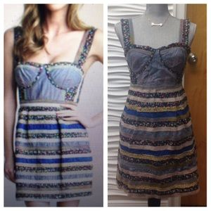 Free People Sundress with Striped Skirt
