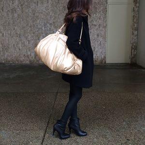 Handbags - Gold Faux Snakeskin Hobo Bag