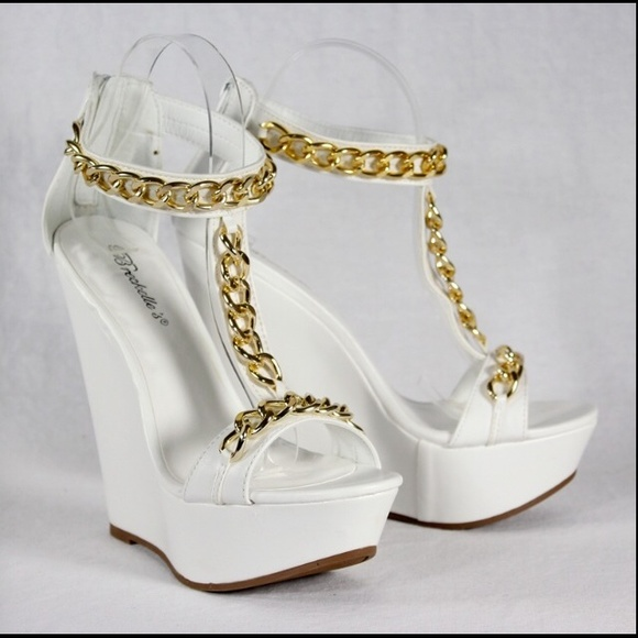 Breckelles White Gold Chain Wedge