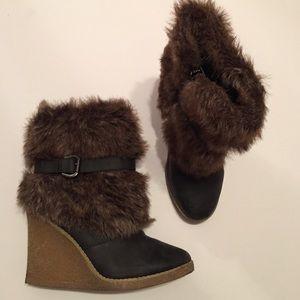 Charlotte Russe Fur Booties