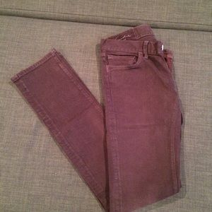 Purple denim jeans