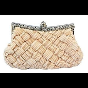 Rhinestone Studded Chicastic Pleated Clutch Purse