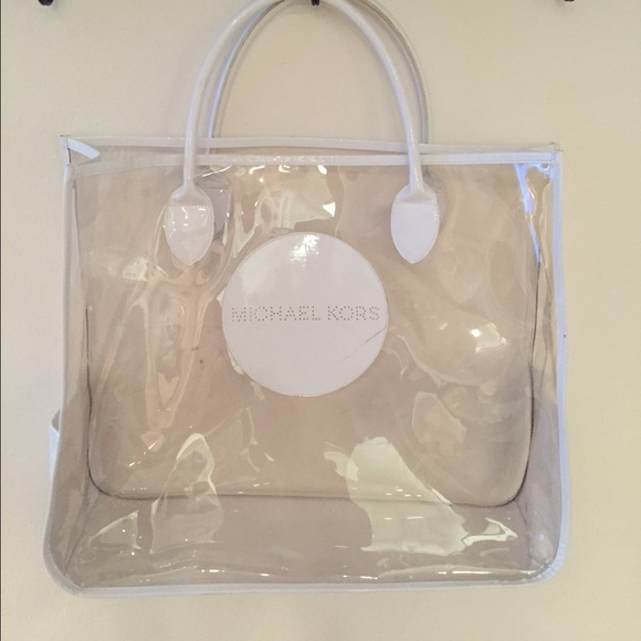 Michael Kors - Authentic MK Large Clear Plastic Jelly Beach Bag ...