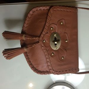 Brown Cross-body Purse