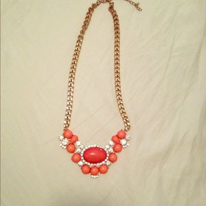 Peach/Pink Statement Necklace