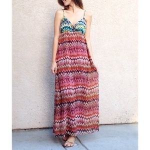 | new | patterned maxi dress