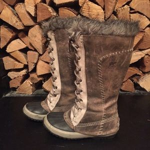 "SOREL Boots - Sorel Gray ""Cate The Great"" Suede Duck Boot"