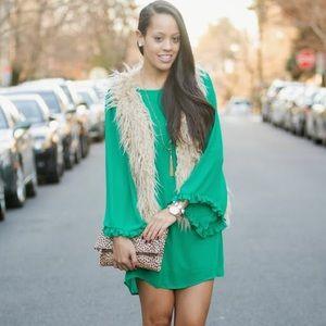 Forever 21 Green Sleeved Dress