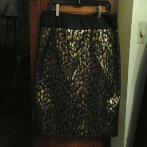 Fabulous gold and black skirt