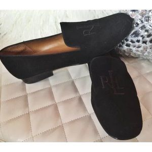 Ralph Lauren Monogram Loafer Slippers