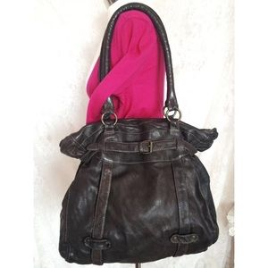 All Saints Romy Shopper HUGE Brown Leather Bag