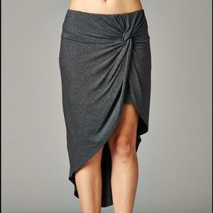 ✨LAST ONE✨Charcoal Grey Knotted Twist Skirt
