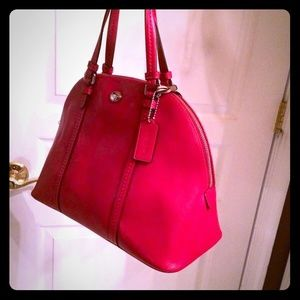 Coach: Peyton Leather Cora Domed Satchel