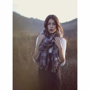 Free People Sienna Oversized Plaid Scarf