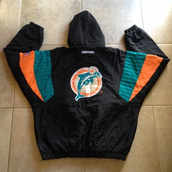 best sneakers f8c9d 551bc Vintage Miami Dolphins Starter Pullover Jacket