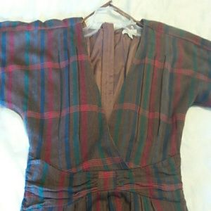 Silence and Noise Anthropology  size 2 plaid Tunic