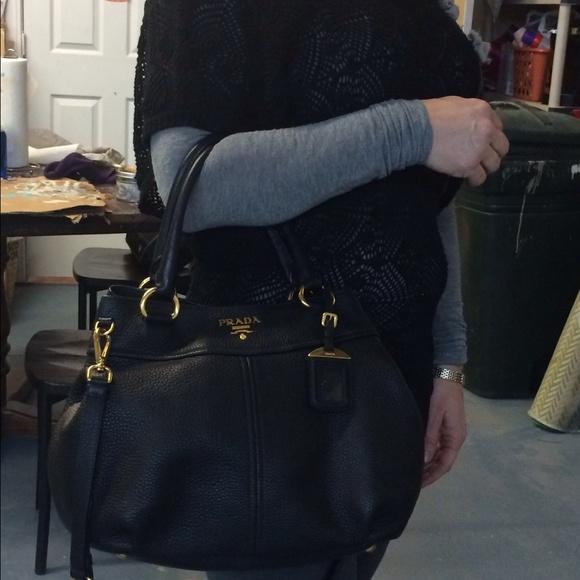 62% off Prada Handbags - Prada Black/Nero Sacca 2 Manici Vitelli ...