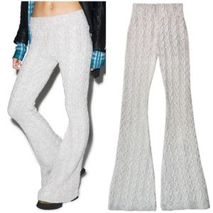 Cable knit bell bottoms.