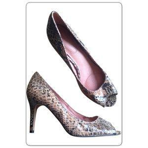 Corso Como Shoes - Corso Como Brown Snake Embossed Leather Delight