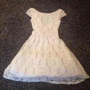 Windsor Sequin and Lace Dress