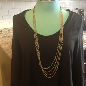 Loft Gold and beaded statement necklace