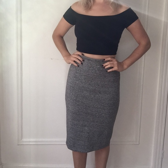 07c484765d3d H&M Skirts | Grey Pencil Skirt Nwt | Poshmark