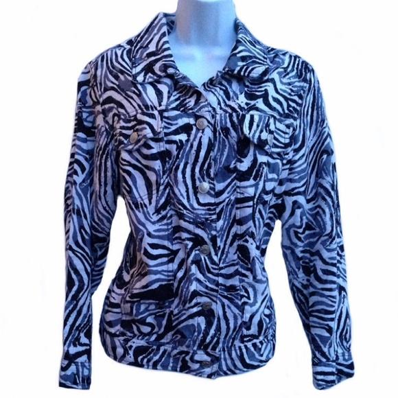 ... Little Jackets & Coats - Carole Little light-weight zebra print jacket Zebra Weight