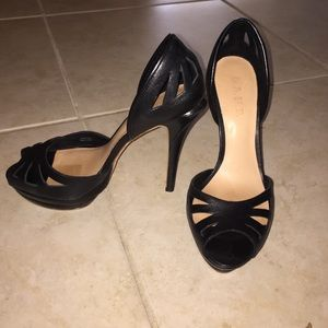 LAMB black leather heels