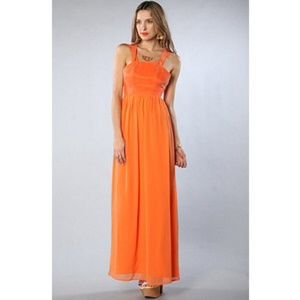 Orange Keepsake The Satellites Maxi Dress Size 4