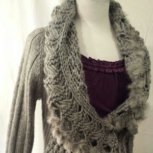 Sweaters - Silver-Grey Cardigan extra-Soft Robe sweater