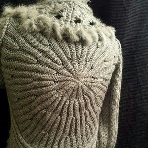 Sweaters - Silver-Grey cardigan sweater (more pics)