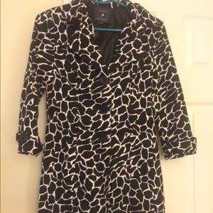 Forever 21 trench coat giraffe print