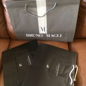 Bundles of shopping bags