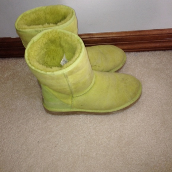 ugg boots lime green