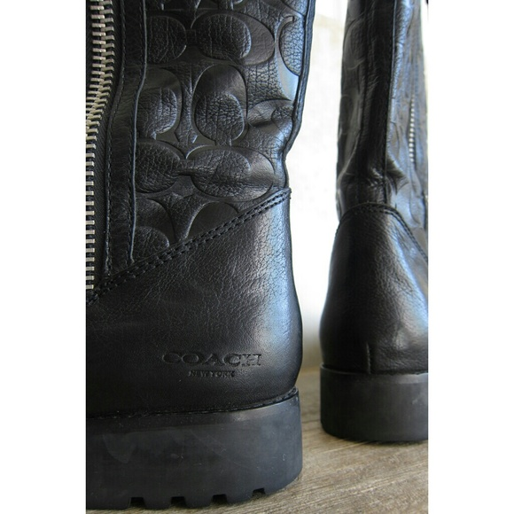 73 coach shoes coach black leather boots from