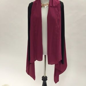 Tops - Pink and black cardigan
