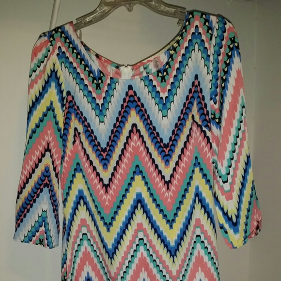 53 off dresses amp skirts colorful pastel chevron dress