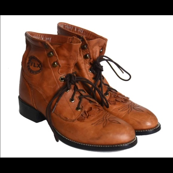 88 off tony lama shoes tony lama brown lace up boots hipster from