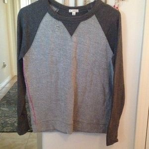 GAP XS grey sweatshirt with hot pink detailing