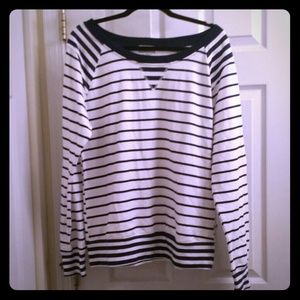 Tops - Navy and White striped shirt